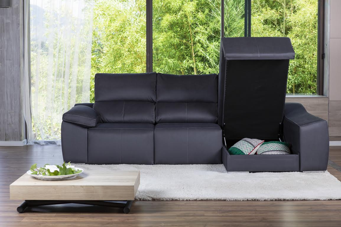 sofà amb emmagatzematge