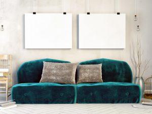 sofà de vellut